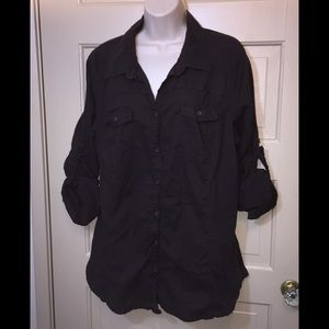 Old Navy Brown Button Down Shirt